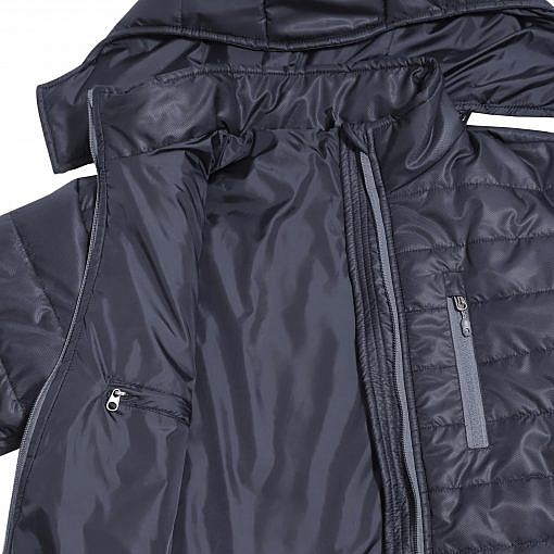 Treka Men's Annapurna Winter Insulated Jacket - 300 GSM- Black Detailed View