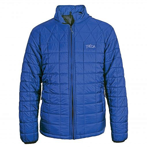 TREQA Pumori Men's Insulated Jacket 200 GSM CCS - Steel Blue - Front View