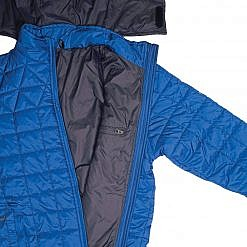 TREQA Pumori Men's Insulated Jacket 200 GSM CCS - Steel Blue - Inside View