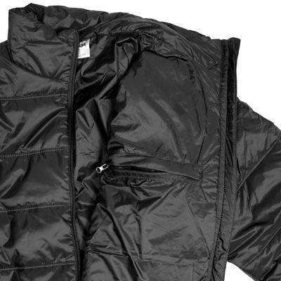 TREQA Men's Sonam Insulated Jacket 150GSM - Black - Inside View