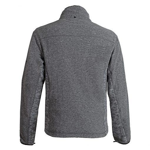 Mens Grey Fleece Jacket Back