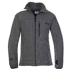 Mens Grey Fleece Jacket Front