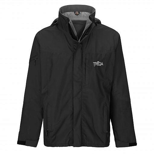 TREQA Men's Yeti Shell Jacket CCS - Black - Front View