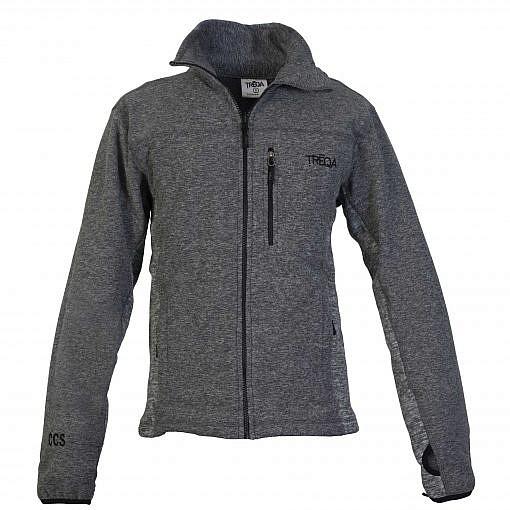 TREQA Men's Cho-oyu Fleece Jacket CCS - 2 Tone Grey - Front View