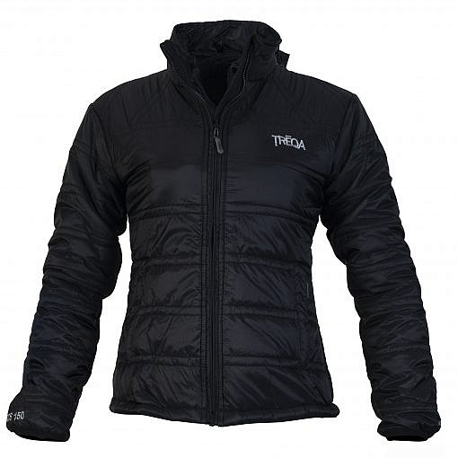 TREQA Women's Dablam Insulated Jacket 150 GSM CCS - Black - Front View