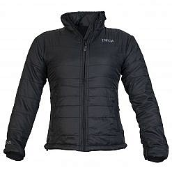 TREQA Women's Khumbu Insulated Jacket 100 GSM CCS - Black - Front View