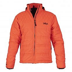TREQA Men's Langtang Insulated Jacket 250 GSM CCS - Orange - Front View