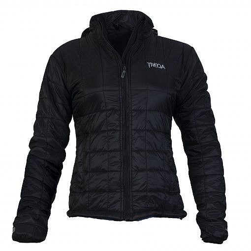 TREQA Women's Pumori Insulated Jacket 200 GSM CCS - Black - Front View