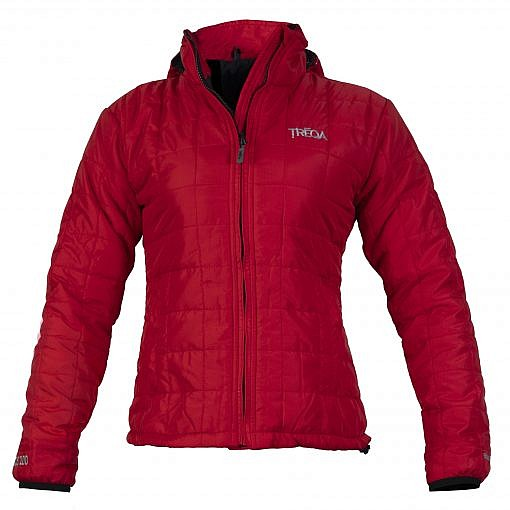 TREQA Women's Pumori Insulated Jacket 200 GSM CCS - Red - Front View