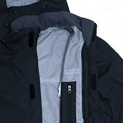 TREQA Men's Yeti Shell Jacket CCS - Black - Inside View