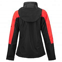 TREQA Women's Yeti Shell Jacket CCS - Red / Black Back View
