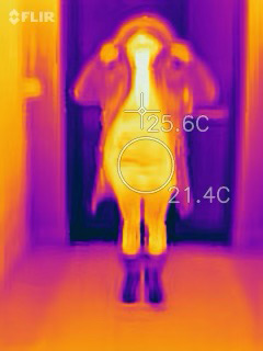 Thermal Photo of Regal Parka Partly Open