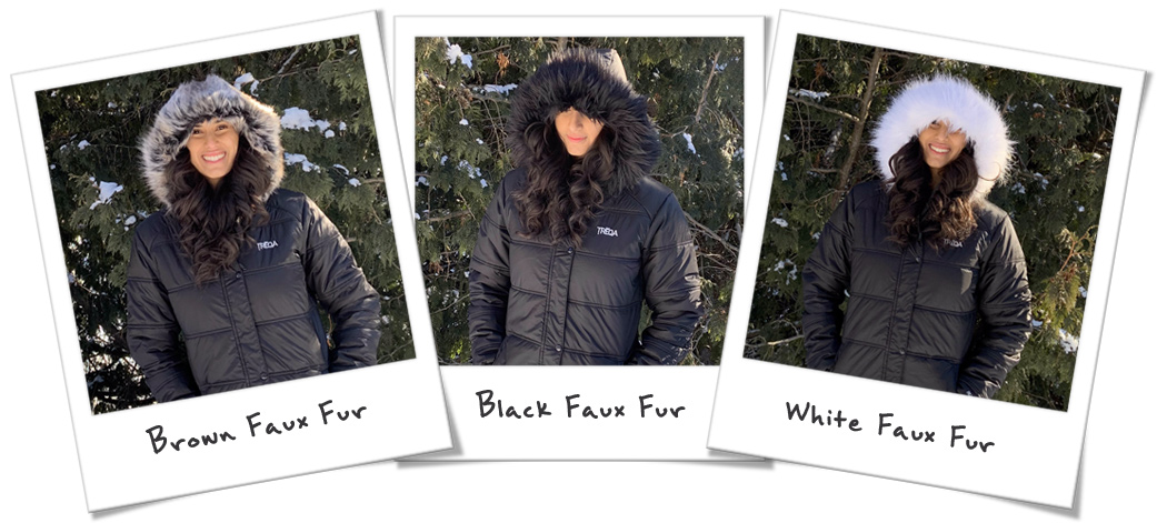 Treqa Everest Regal All Three Faux Fur Hood Liners Included