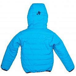 TREQA Kids Lukla Unisex Insulated Jacket 200 GSM- Blue - Back View