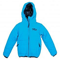 TREQA Kids Lukla Unisex Insulated Jacket 200 GSM- Blue - Front View