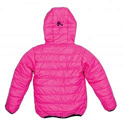 TREQA Kids Lukla Unisex Insulated Jacket 200 GSM- Pink - Back View