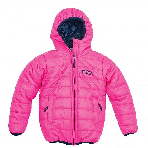 TREQA Kids Lukla Unisex Insulated Jacket 200 GSM- Pink - Front View