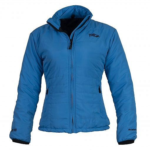 TREQA Women's Khumbu Insulated Jacket 100 GSM CCS - Blue - Front View